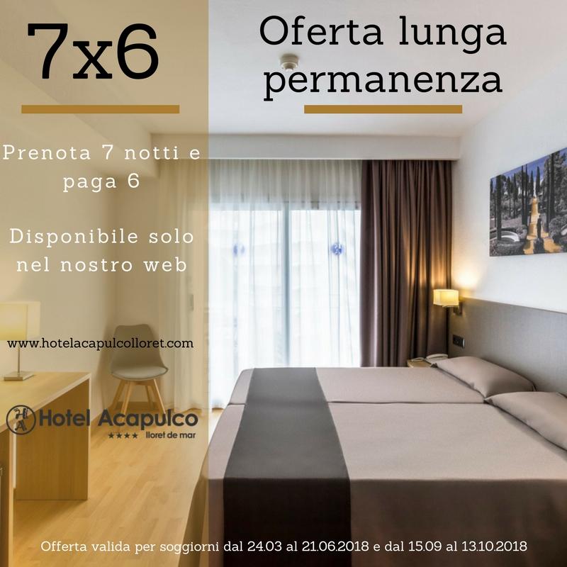 Offerta prenota 7 notte paga 6- Hotel Acapulco Lloret. | Hotel ...