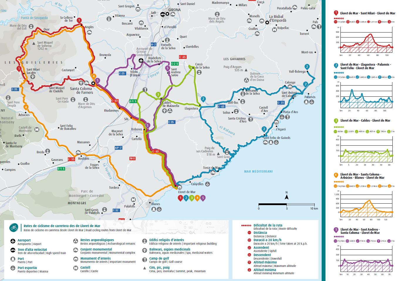 Cycling routes - Lloret de Mar (Lloret Turisme)